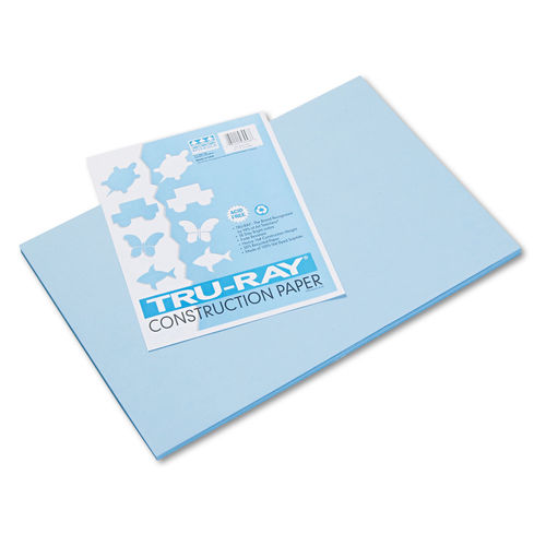 Turquoise Pacon Tru-Ray Construction Paper 5 Packs 50 Sheets Per Pack 12 x 18