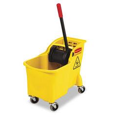 Rubbermaid® Commercial Tandem™ 31-Quart Bucket/Wringer Combo Thumbnail