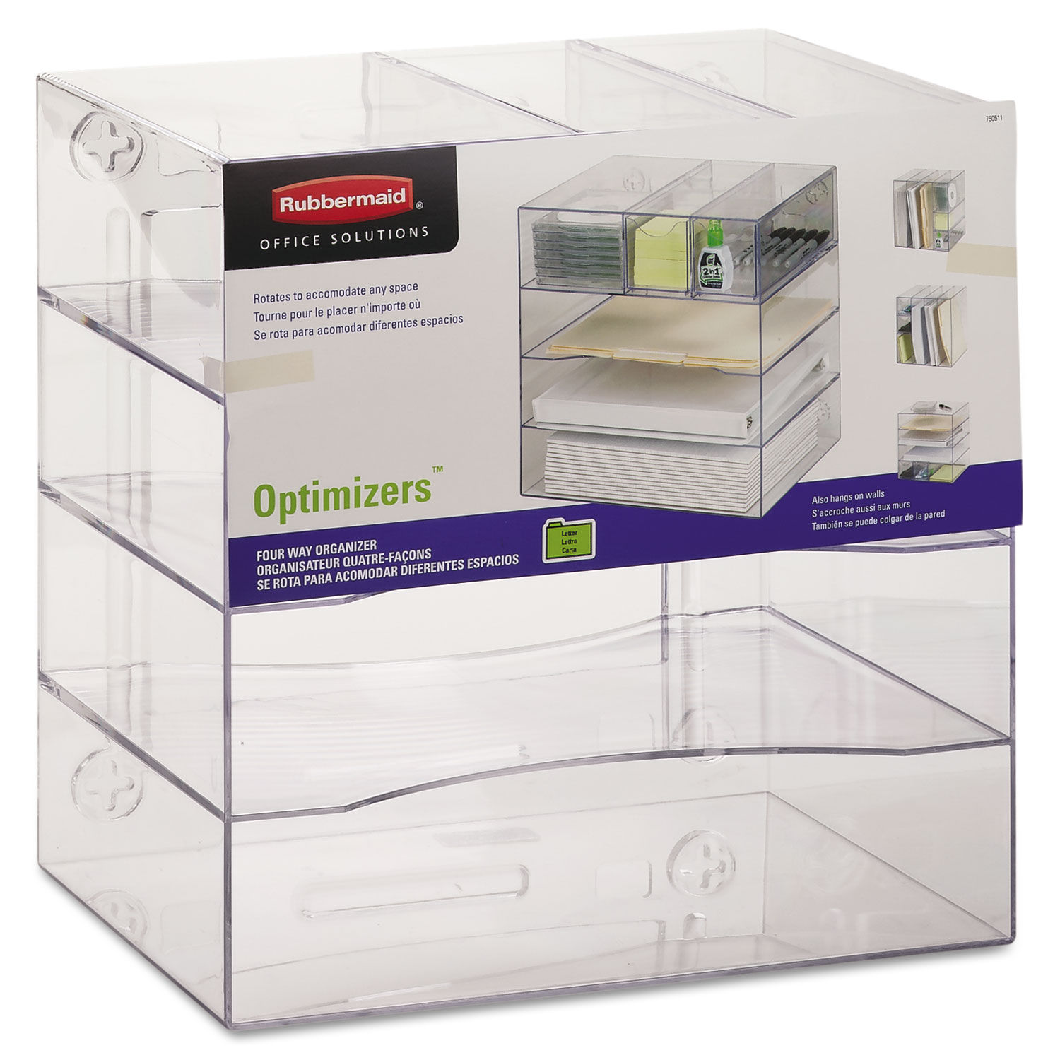 Optimizers Four Way Organizer With Drawers By Rubbermaid Rub94600ros Ontimesupplies Com