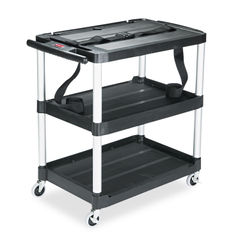 Rubbermaid® Commercial MediaMaster® Three-Shelf AV Cart Thumbnail
