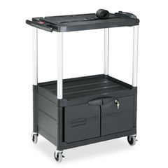 Rubbermaid® Commercial MediaMaster® Three-Shelf AV Carts with Cabinet Thumbnail