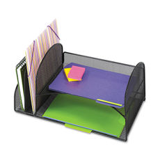 Safco® Onyx™ Mesh Desk Organizer with Two Vertical/Two Horizontal Sections Thumbnail