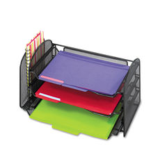 Safco® Onyx™ Mesh Desk Organizer with One Vertical/Three Horizontal Sections Thumbnail