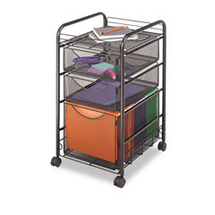 Safco® Onyx™ Mesh Mobile File with Two Supply Drawers Thumbnail