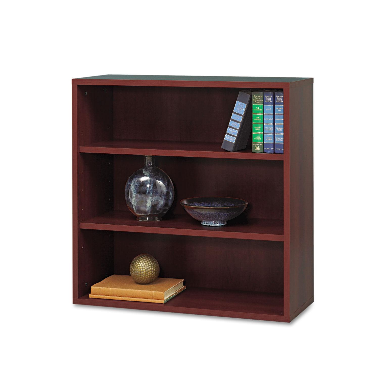 Apres Open Bookcase Three Shelf 29 3 4w X 11 3 4d X 29 3 4h Mahogany