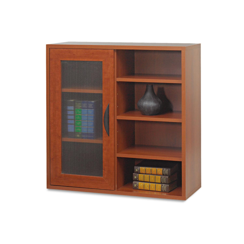 Apres Single Door Cabinet W Shelves 29 75w X 11 75d X 29 75h Cherry