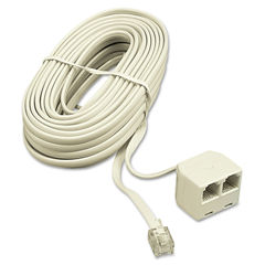 Softalk® Telephone Extension Cord, Plug/Dual Jack Thumbnail