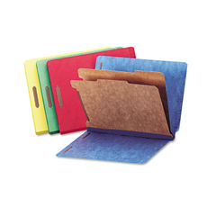 Universal® Deluxe Six-Section Colored Pressboard End Tab Classification Folders Thumbnail