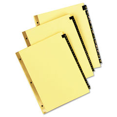 Universal® Deluxe Preprinted Simulated Leather Tab Dividers with Gold Printing Thumbnail