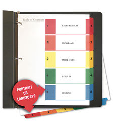 5-Tab Universal Index Dividers