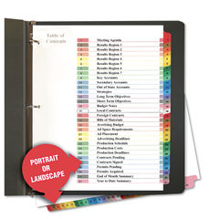 1-31 Universal Index Dividers