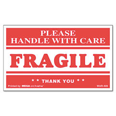 Universal® Printed Message Self-Adhesive Shipping Labels Thumbnail