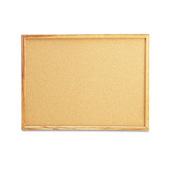 Universal® Cork Board with Oak Style Frame Thumbnail