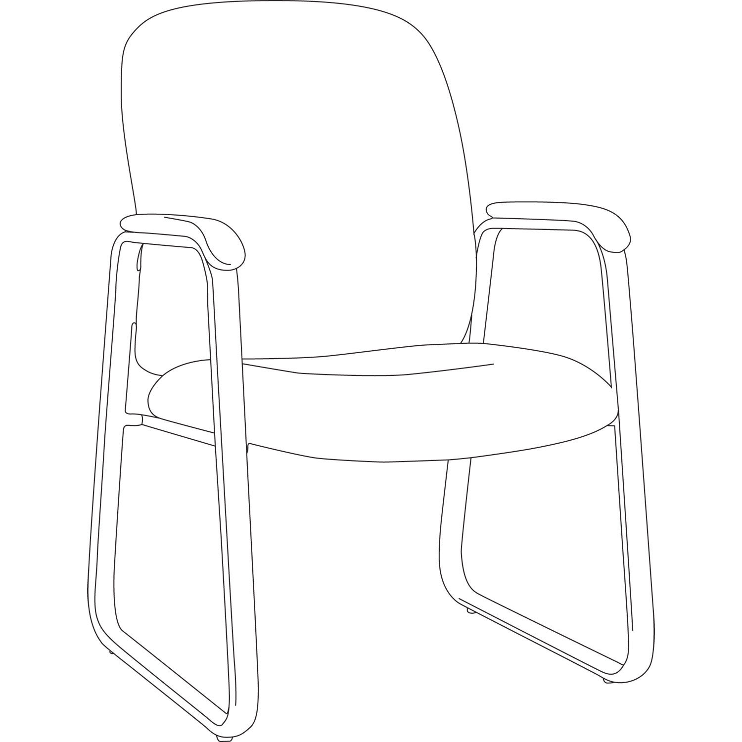 Alera Genaro High-Back Guest Chair by Alera® ALEGE43LS10B