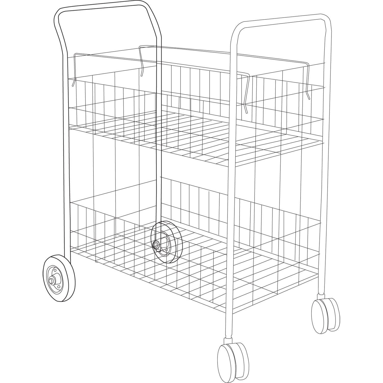 Carry-all Cart/Mail Cart by Alera® ALEMC3518SR