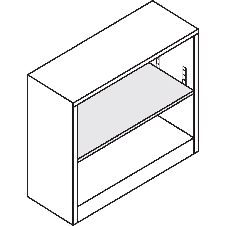 34-1//2w x 12-5//8d x 29h HONS30ABCS Hon Metal Bookcase Charcoal 2 Shelves