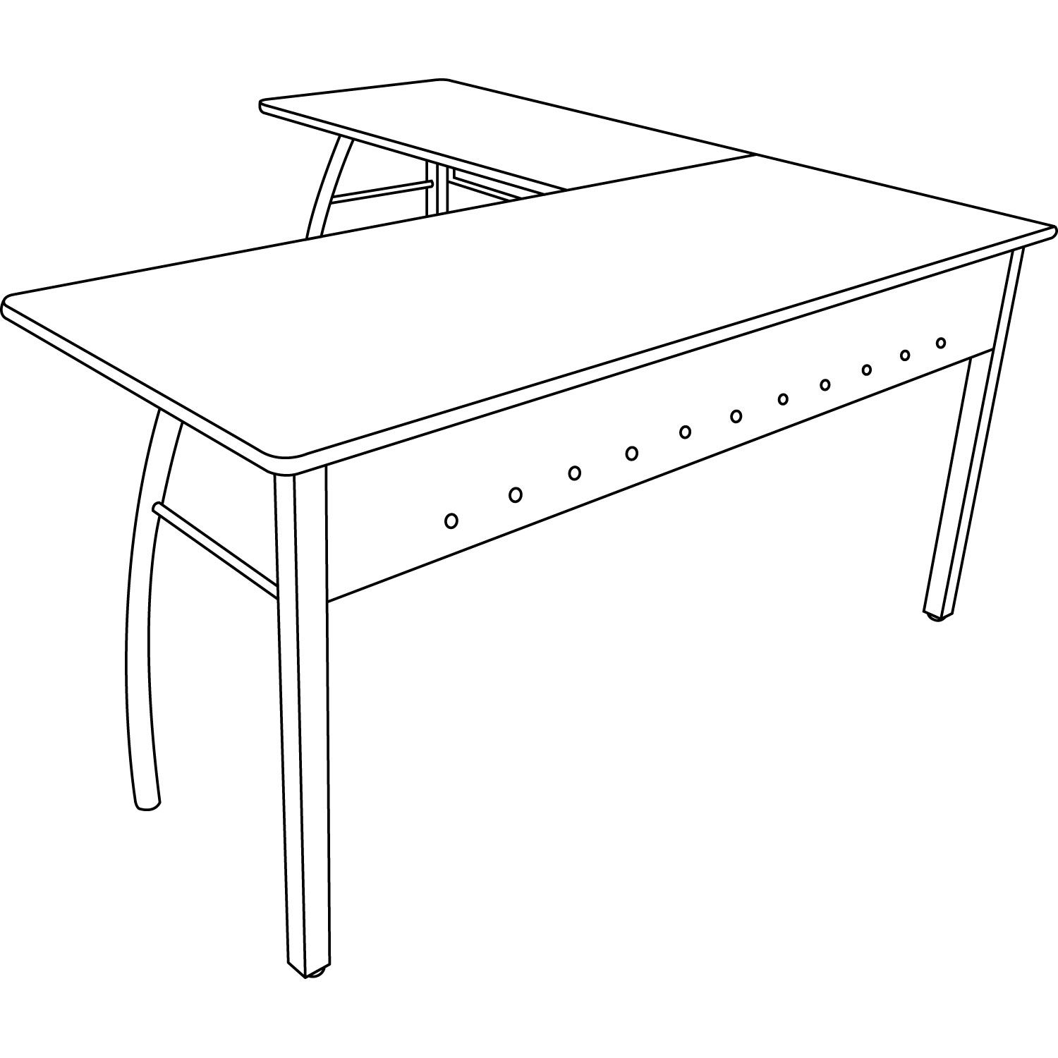 Trento Line L-Shaped Desk by Linea Italia® LITTR737MOC