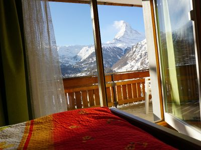 You can see the Matterhorn from your bed