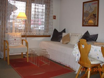 living room and sleeping area
