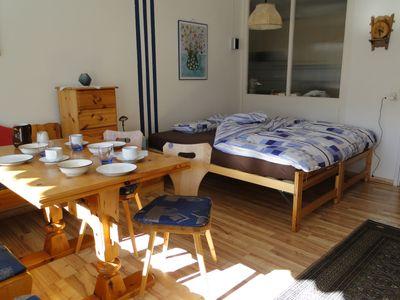 Living-and sleeping area