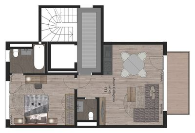 Plan de l'appartement _Mount Callaghan