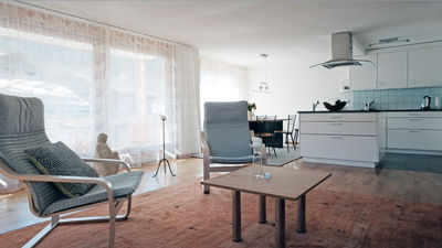 open livingroom and kitchen