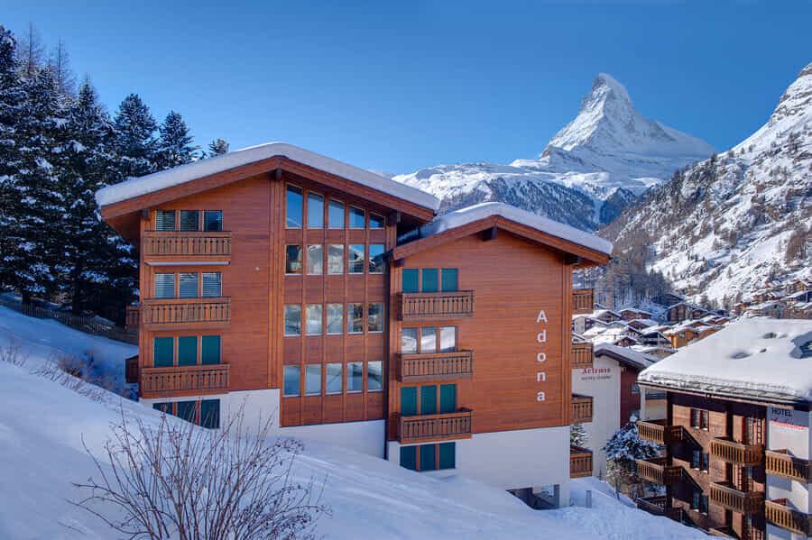 Excellente endroit avec splendid regards du Mont Cervin