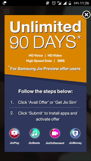 Unlimited Jio 90 Days