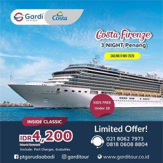 wisata kapal pesiar Costa Firenze Cruises