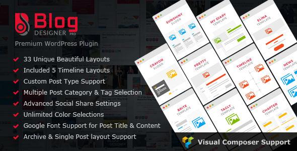 Blog Designer PRO for WordPress v3.1