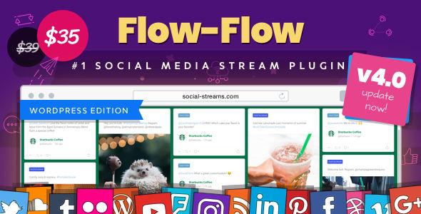 Flow-Flow v4.8.1 - WordPress Social Stream Plugin