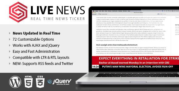 Live News v2.14 - Real Time News Ticker