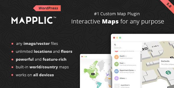 Mapplic v6.2.1 - Custom Interactive Map WordPress Plugin