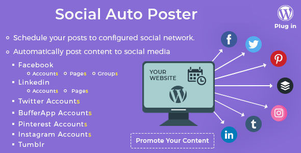 Social Auto Poster v4.0.9 - WordPress Plugin