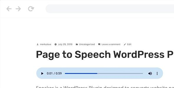 Speaker v3.2.2 - Page to Speech Plugin for WordPress