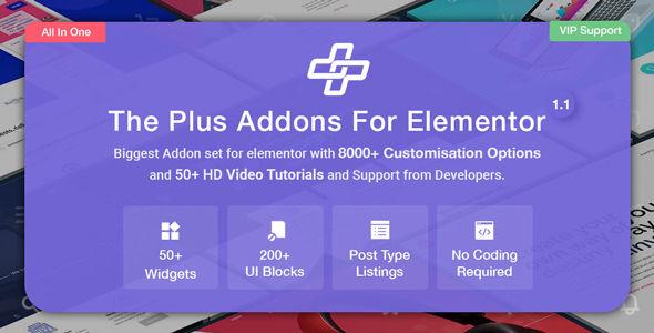 The Plus v4.1.8 - Addon for Elementor