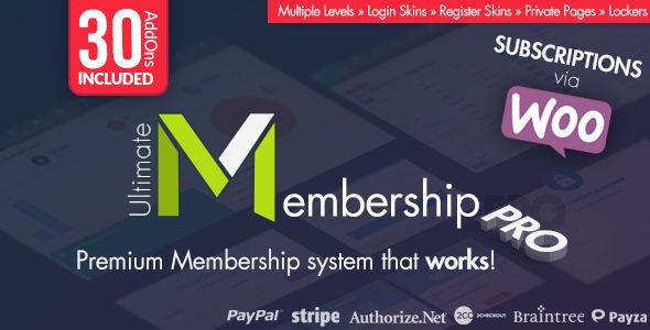 Ultimate Membership Pro WordPress Plugin v9.7