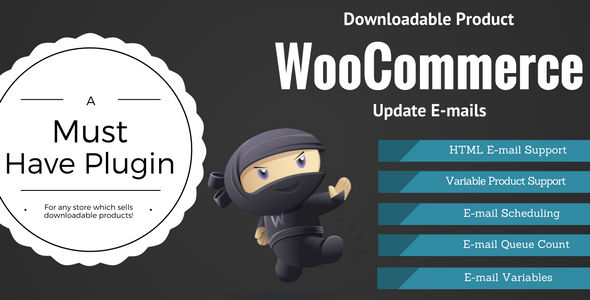 WooCommerce Downloadable Product Update E-mails v2.0.4