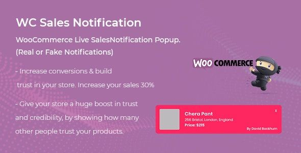 WooCommerce Live Sales Notification Pro v1.0.2