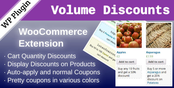 WooCommerce Volume Discount Coupons v1.7.0