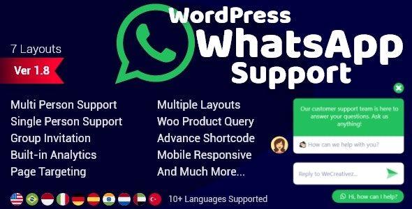 WordPress WhatsApp Support v2.0.7
