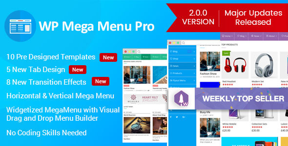 WP Mega Menu Pro v2.1.6 - Responsive Mega Menu Plugin