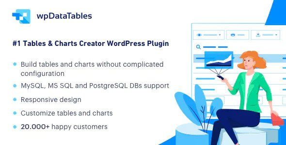 wpDataTables v3.4.2 - Tables and Charts Manager for WordPress