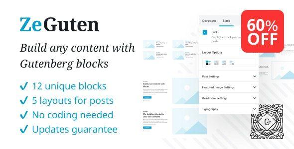 ZeGuten v1.1.3 - Blocks for Gutenberg