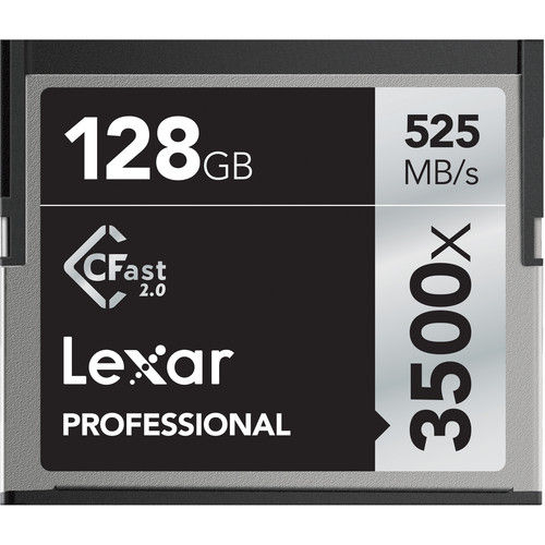 Lexar Professional 128GB 3500x CFast 2.0 Memory Card (525MB/s)