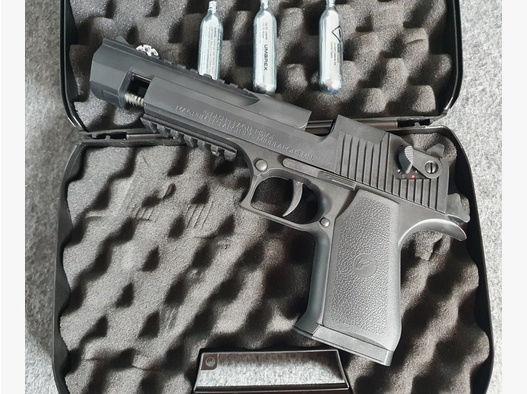 Desert Eagle Co2 RARITÄT  4.5 mm Diabolo Trommelmagazin 8 Schuss eine der stärksten Co2 Pistolen