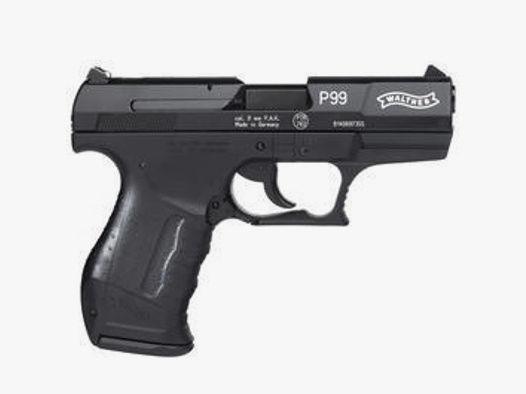 Walther P99 Schreckschusspistole 9mm P.A.K. brüniert inkl. Holster u. Marken-Platzpatronen