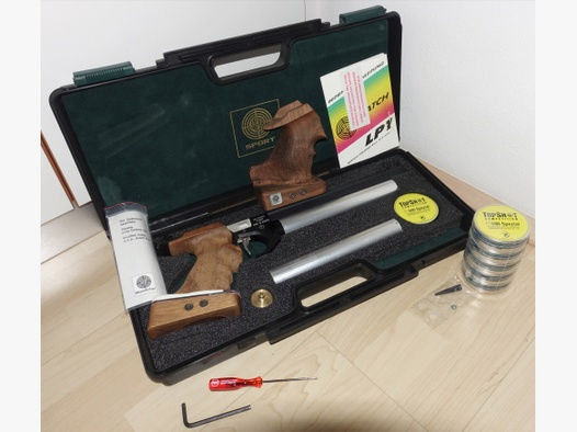 Matchpistole Steyr LP Pressluft mit Koffer und 3000 Schuss, Kartusche bis 10/2027