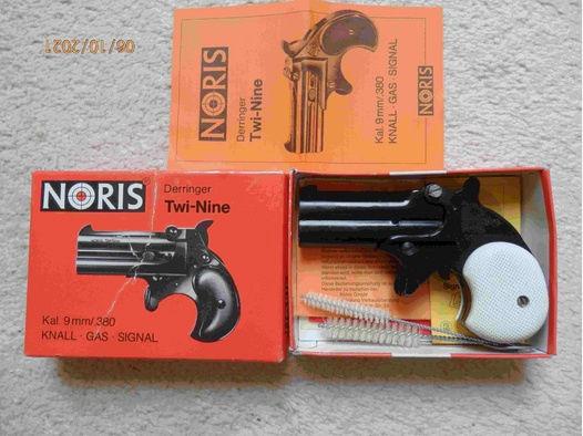 NORIS Derringer Twi-Nine Kal. 9mm/.380 Knall - Gas - Signal OVP