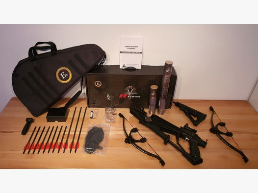 EK ARCHERY  COBRA R9 RX Armbrust SET 130 LBS in schwarz.